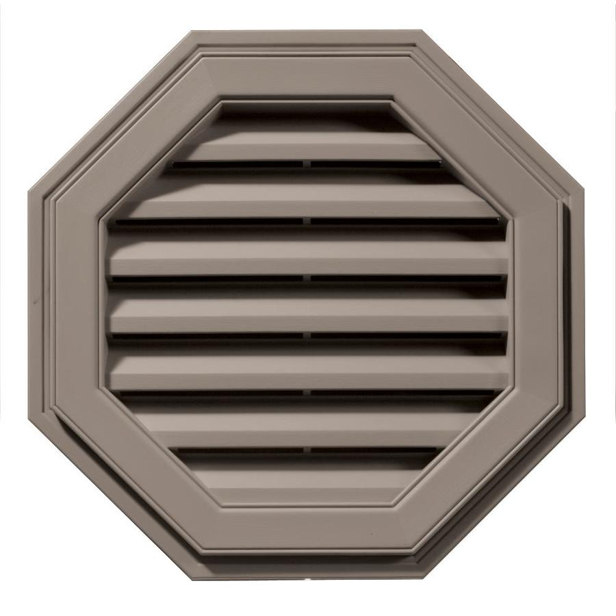 Builders Edge 8-in x 7-in Clay Octagon Vinyl Gable Vent