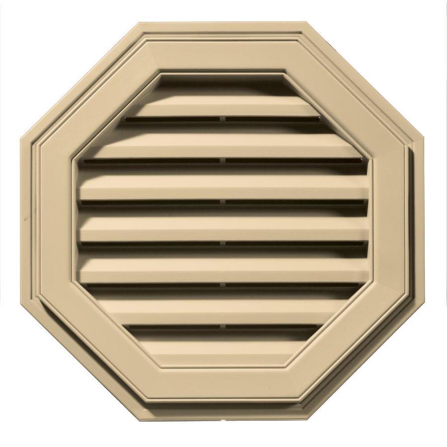 Builders Edge 8-in x 7-in Dark Almond Octagon Vinyl Gable Vent