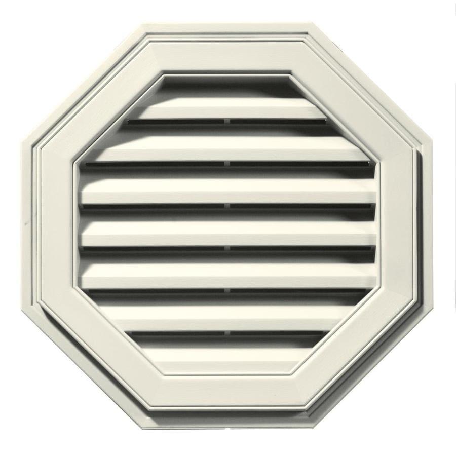Builders Edge 8-in x 7-in Parchment Octagon Vinyl Gable Vent