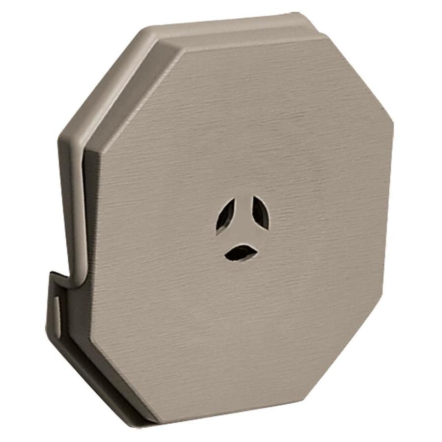 Builders Edge 6.6875-in x 6.6875-in Clay Vinyl Universal Mounting Block