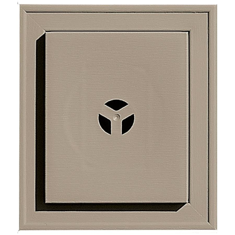 Builders Edge 7-in x 8-in Clay Vinyl Universal Mounting Block