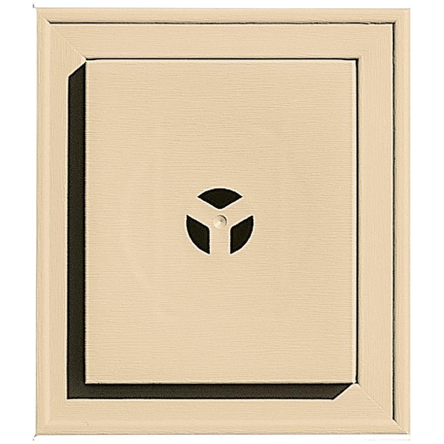 Builders Edge 7-in x 8-in Dark Almond Vinyl Universal Mounting Block