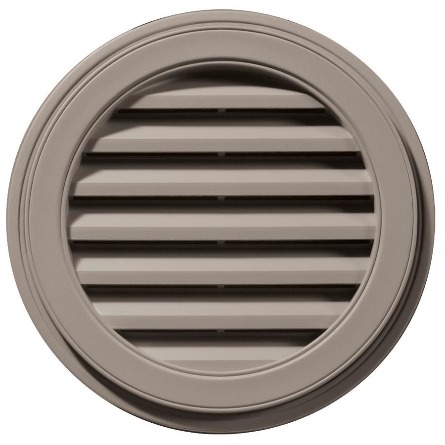 Builders Edge 8-in x 7-in Clay Round Vinyl Gable Vent