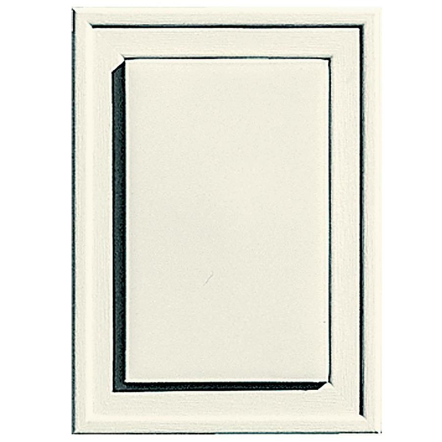 Builders Edge 4.5-in x 6.25-in Parchment Vinyl Universal Mounting Block