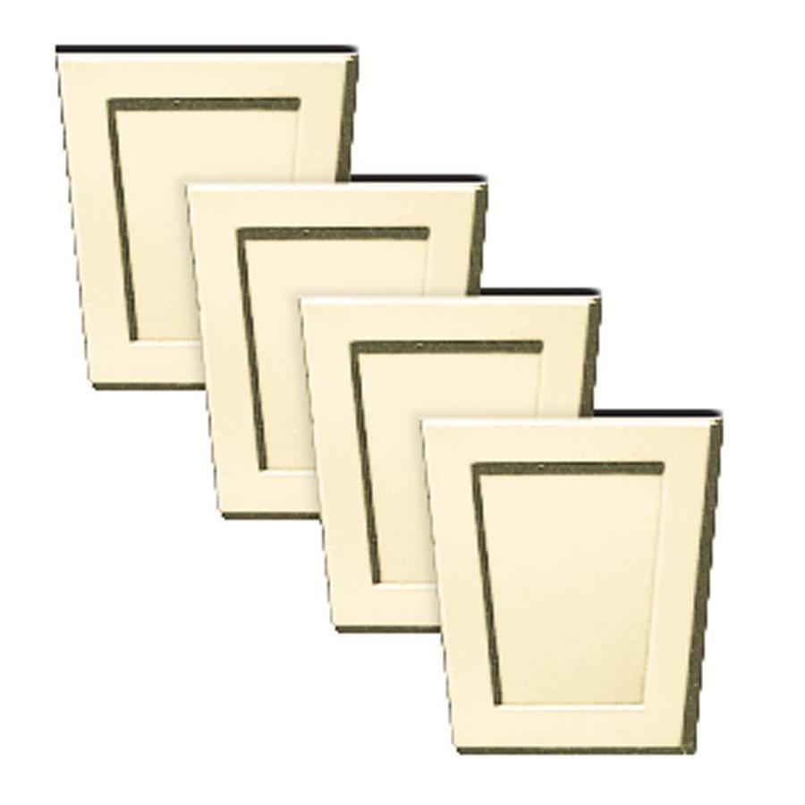 Builders Edge 4-Pack 4-in x 4.5-in Sandalwood Polypropylene Gable Vent Keystones
