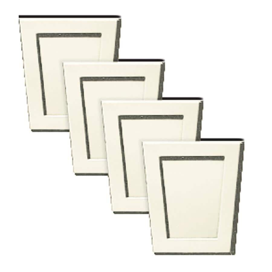 Builders Edge 4-Pack 4-in x 4.5-in Parchment Polypropylene Gable Vent Keystones