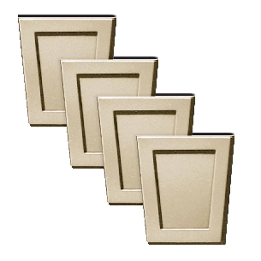 Builders Edge 4-Pack 4-in x 4.5-in Almond Polypropylene Gable Vent Keystones