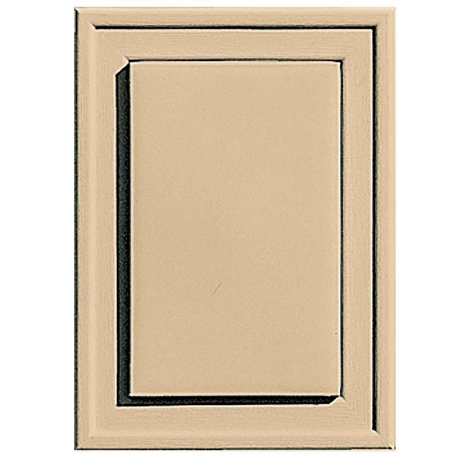 Builders Edge 4.5-in x 6.25-in Sandstone Maple Vinyl Universal Mounting Block