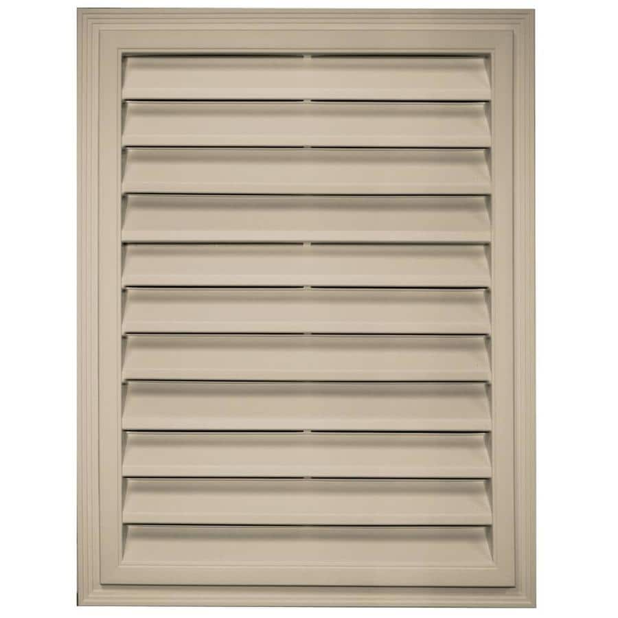 Builders Edge 12-in x 12-in Clay Rectangle Vinyl Gable Vent
