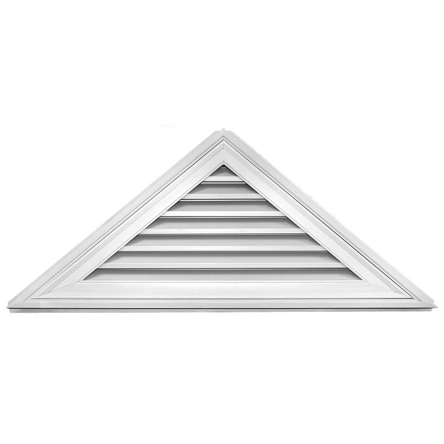 Builders Edge 9-in x 9-in White Triangle Vinyl Gable Vent