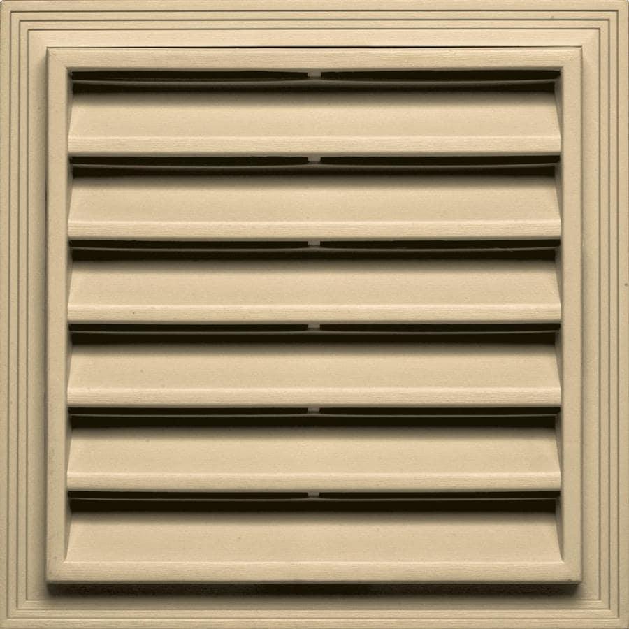 Builders Edge 7-in x 7-in Dark Almond Square Vinyl Gable Vent