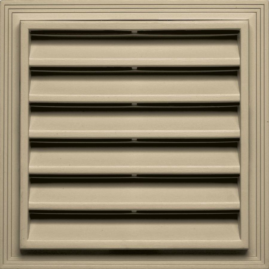 Builders Edge 7-in x 7-in Light Almond Square Vinyl Gable Vent
