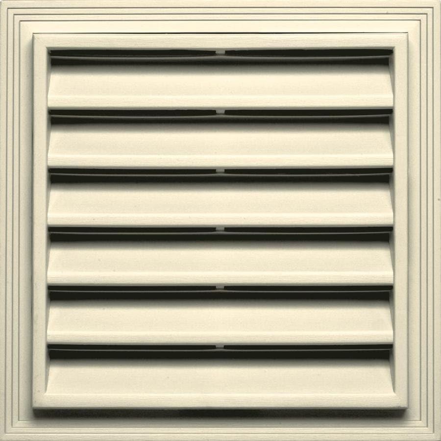 Builders Edge 7-in x 7-in Heritage Cream Square Vinyl Gable Vent