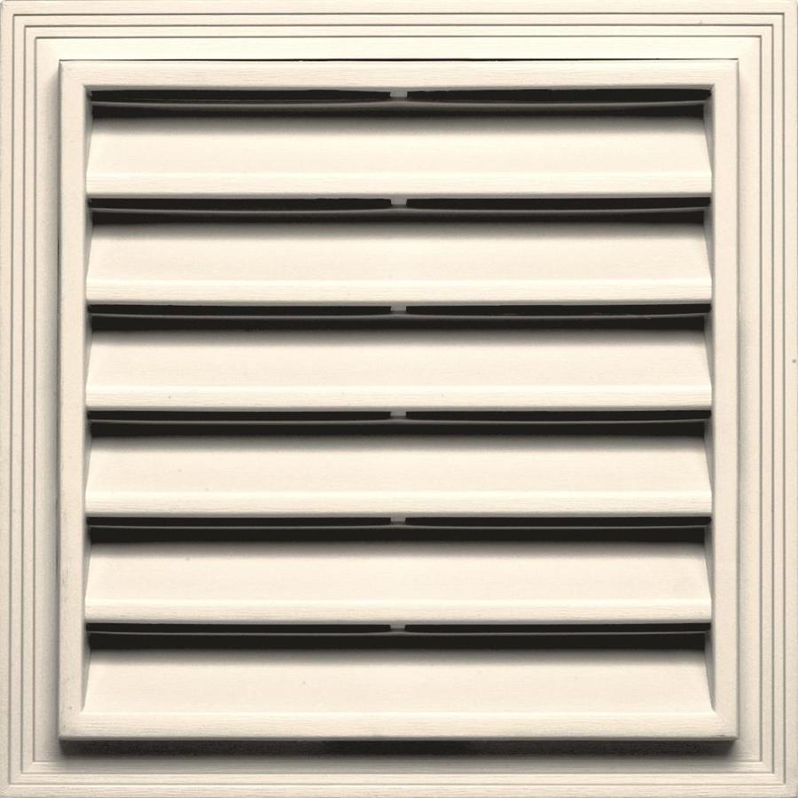 Builders Edge 7-in x 7-in Sandstone Beige Square Vinyl Gable Vent