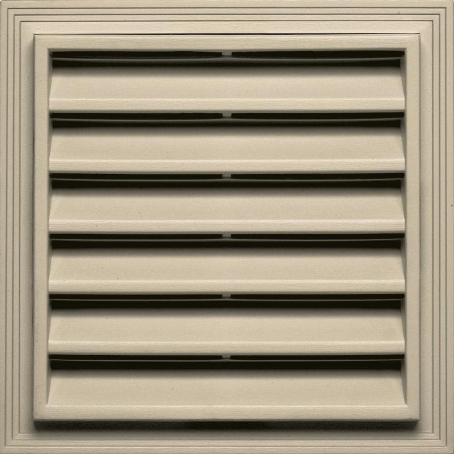Builders Edge 7-in x 7-in Almond Square Vinyl Gable Vent