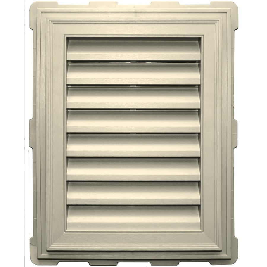 Builders Edge 18-in x 24-in Cream Rectangle Vinyl Gable Vent
