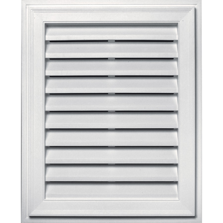 Builders Edge 16-in x 24-in Bright White Rectangle Vinyl Gable Vent