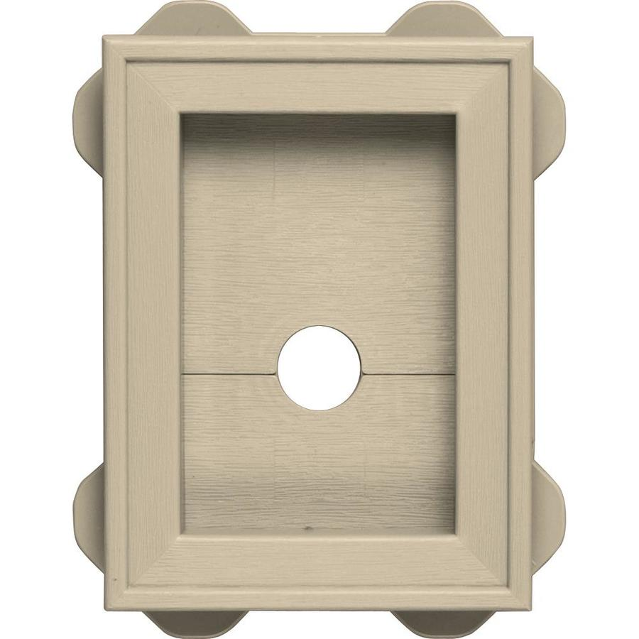 Builders Edge 5-in x 6.75-in Almond Vinyl Universal Mounting Block