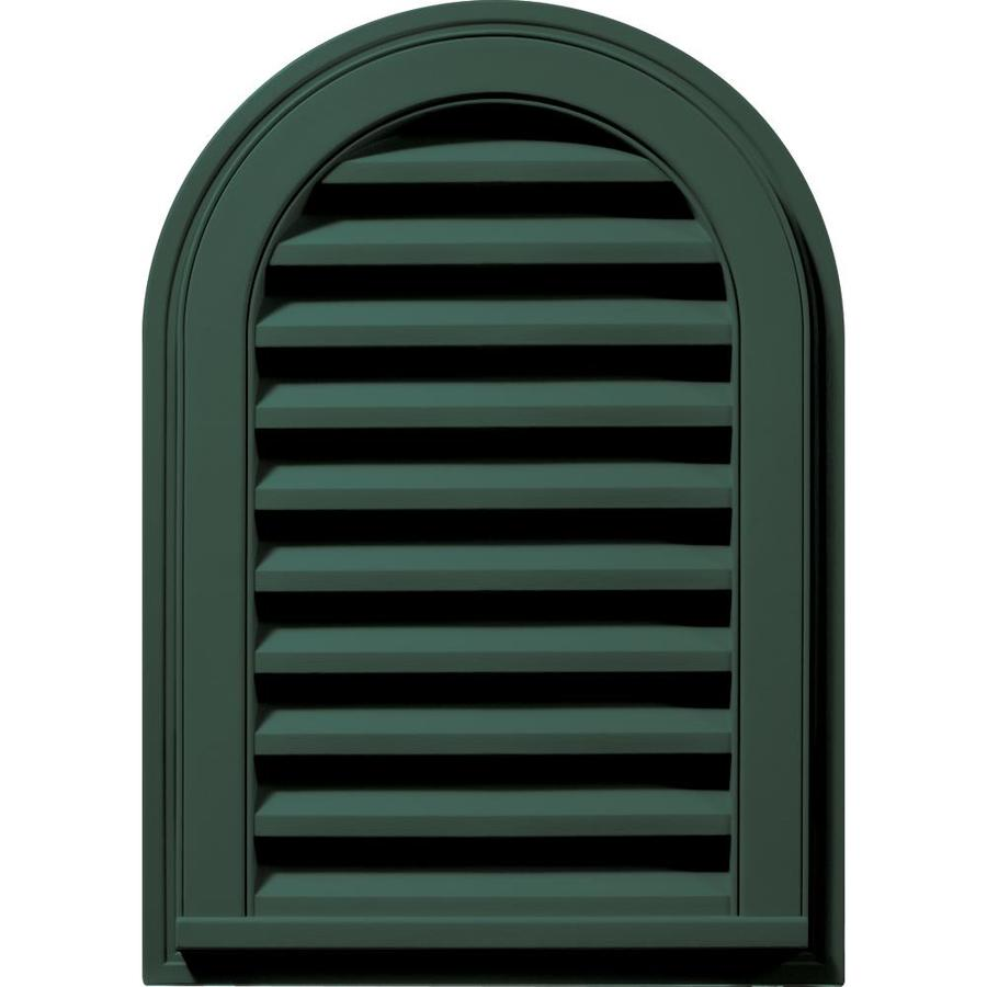 Builders Edge 8-in x 8-in Forest Green Round Top Vinyl Gable Vent