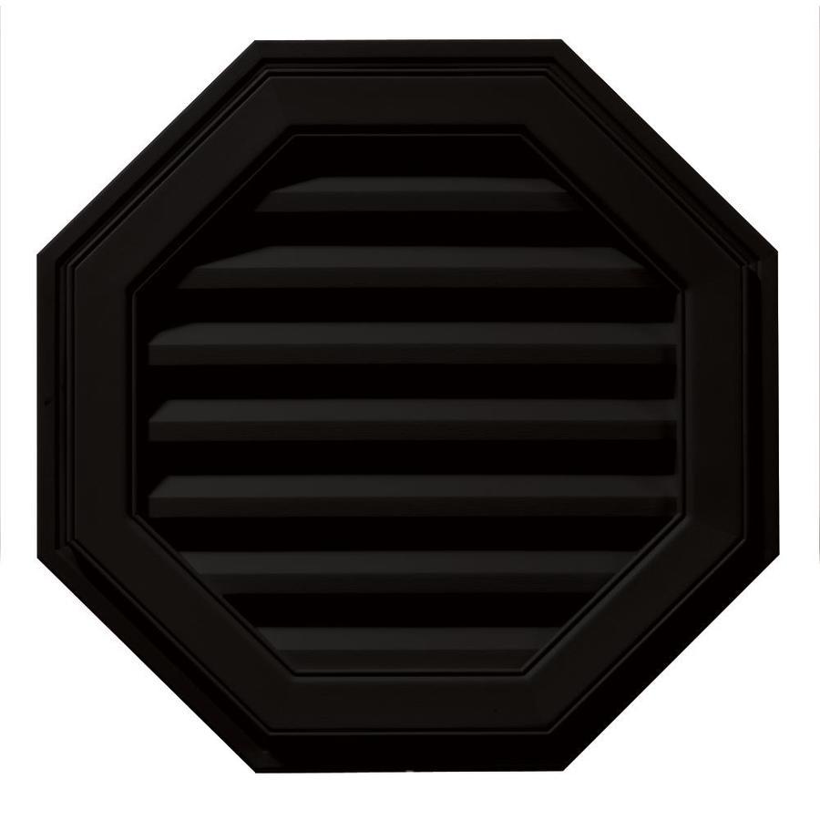 Builders Edge 8-in x 7-in Black Octagon Vinyl Gable Vent