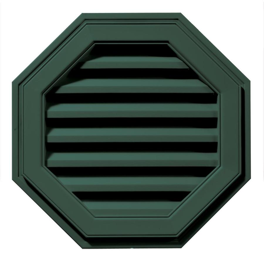 Builders Edge 8-in x 7-in Forest Green Octagon Vinyl Gable Vent