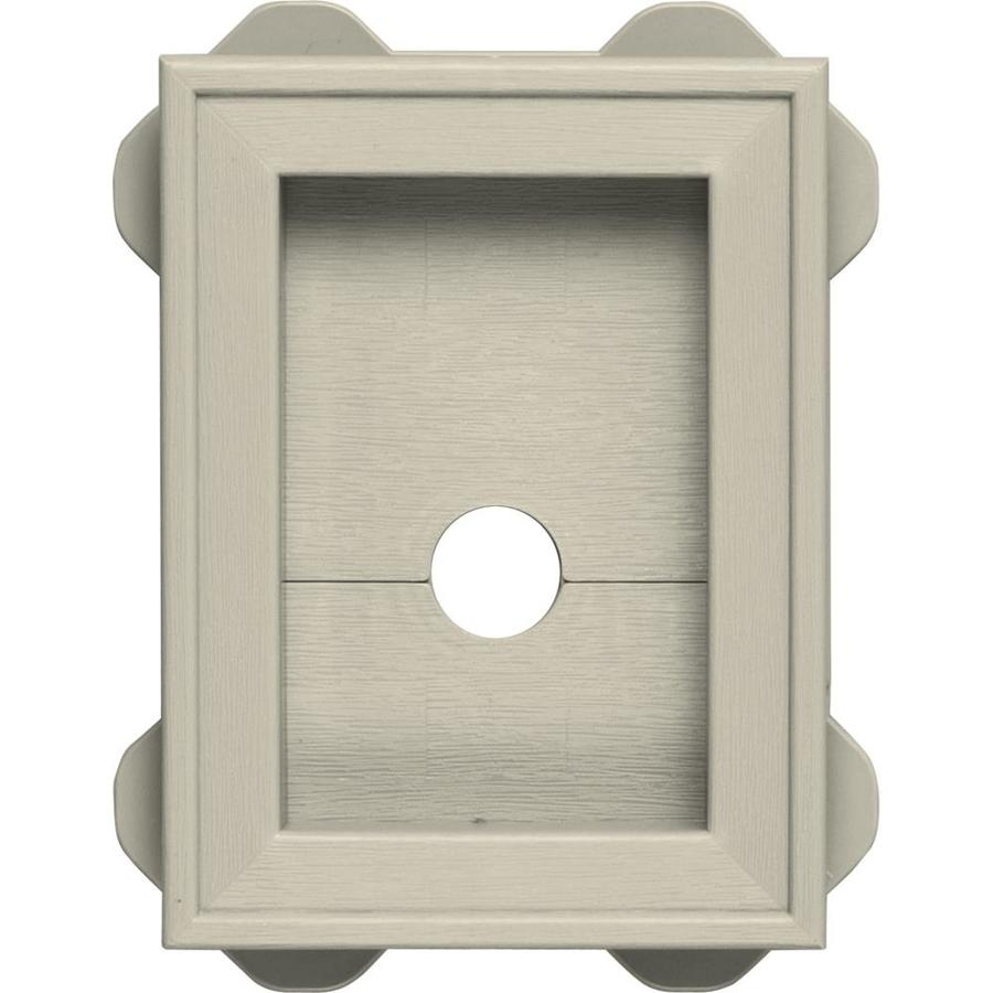 Builders Edge 5-in x 6.75-in Champagne Vinyl Universal Mounting Block