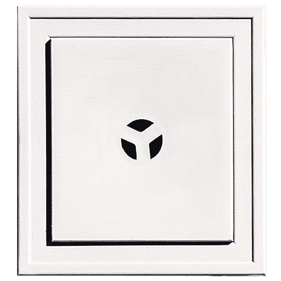 Builders Edge 7.3125-in x 7.3125-in Bright White Vinyl Universal Mounting Block