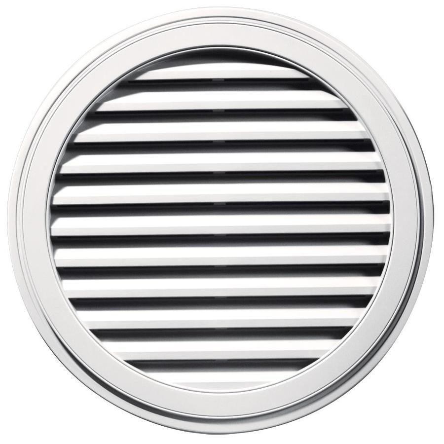 Builders Edge 12-in x 12-in Bright White Round Vinyl Gable Vent