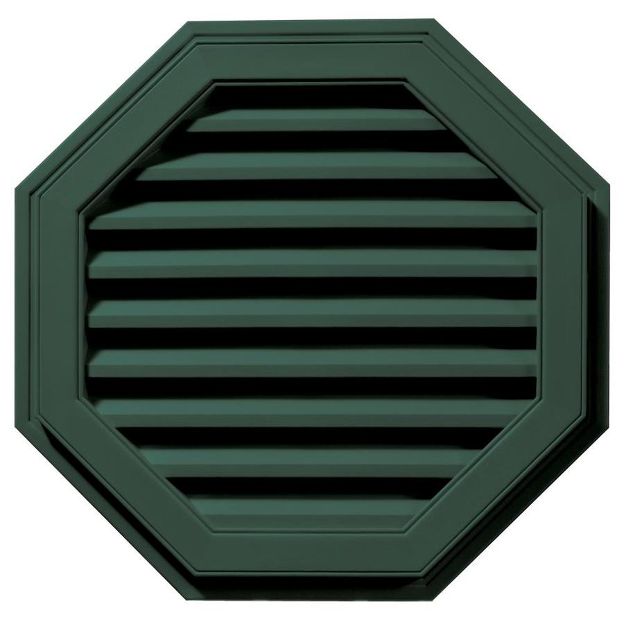 Builders Edge 9-in x 9-in Forest Green Octagon Vinyl Gable Vent