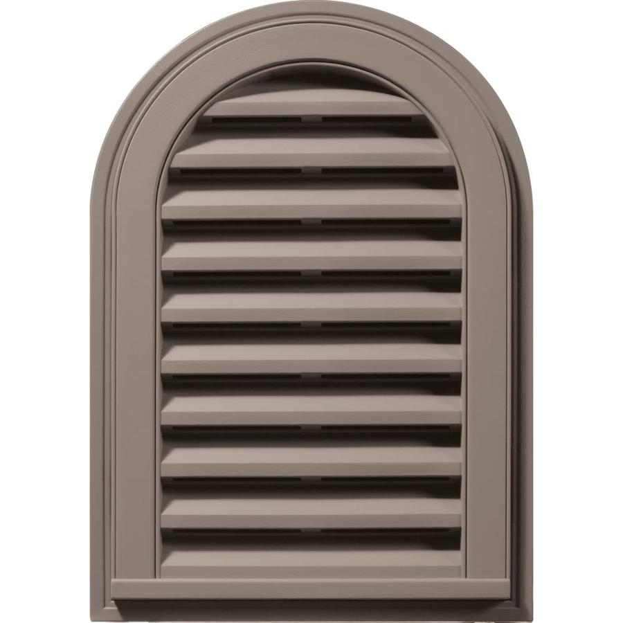 Builders Edge 8-in x 8-in Clay Round Top Vinyl Gable Vent