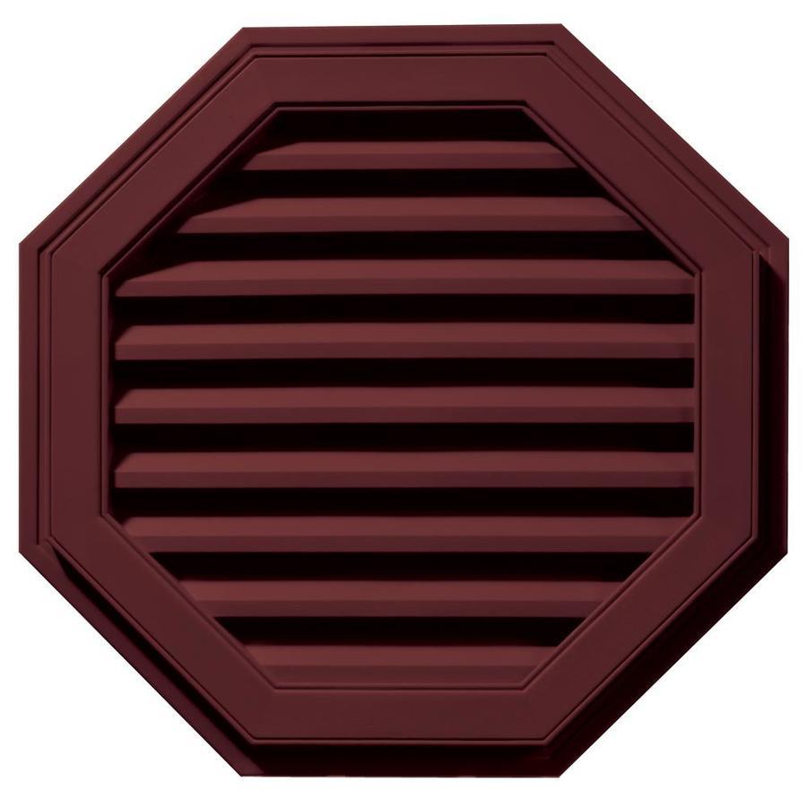 Builders Edge 9-in x 9-in Wineberry Octagon Vinyl Gable Vent