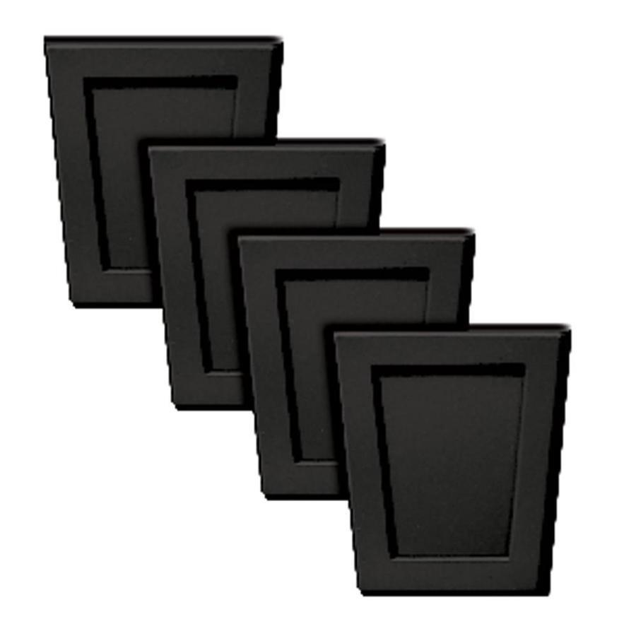 Builders Edge 4-Pack 4-in x 4.5-in Black Polypropylene Gable Vent Keystones