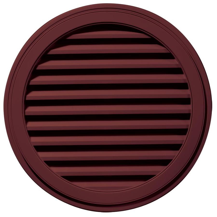 Builders Edge 36-in x 36-in Wineberry Round Vinyl Gable Vent