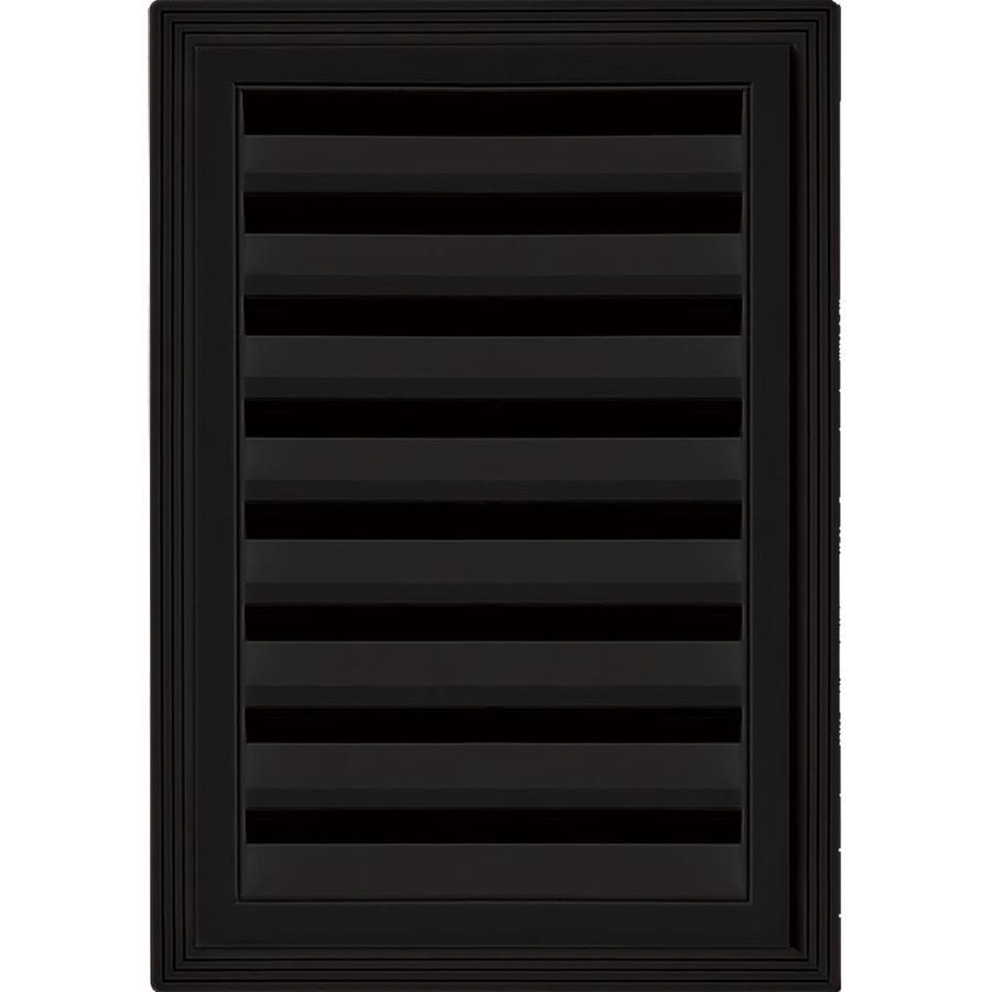 Builders Edge 6-in x 6-in Black Rectangle Vinyl Gable Vent