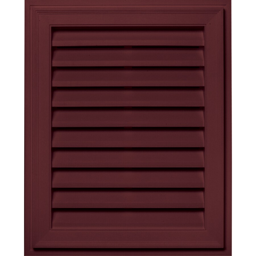 Builders Edge 16-in x 24-in Wineberry Rectangle Vinyl Gable Vent