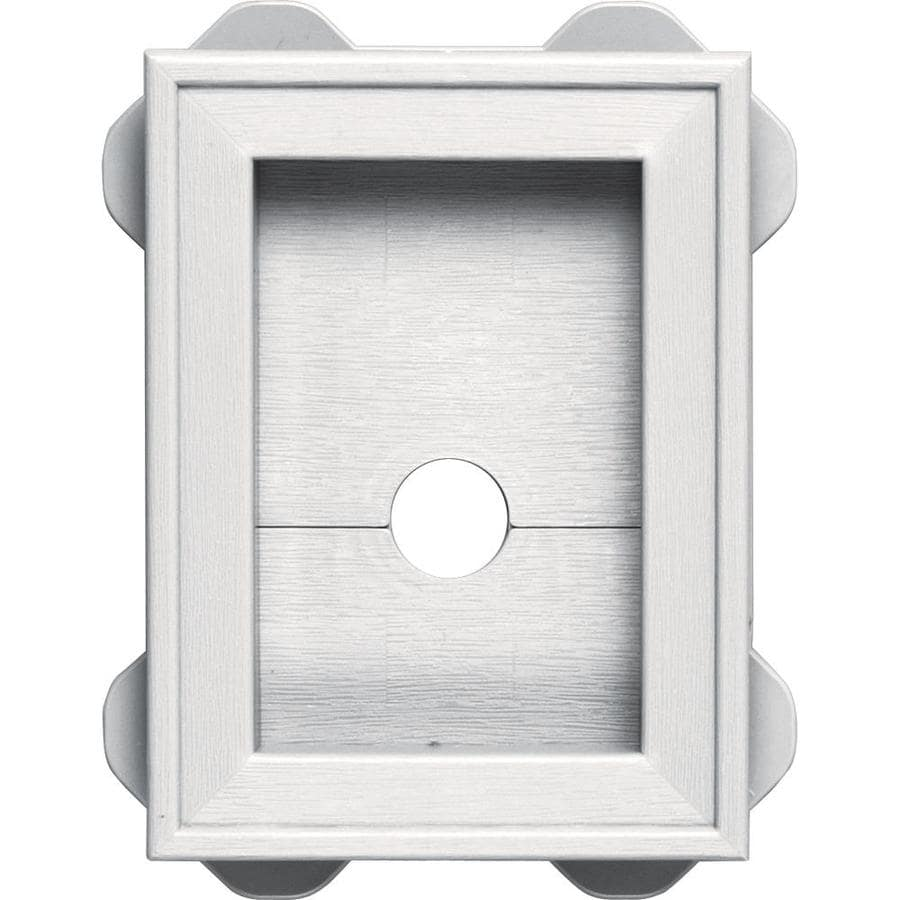 Builders Edge 5-in x 6.75-in Bright White Vinyl Universal Mounting Block
