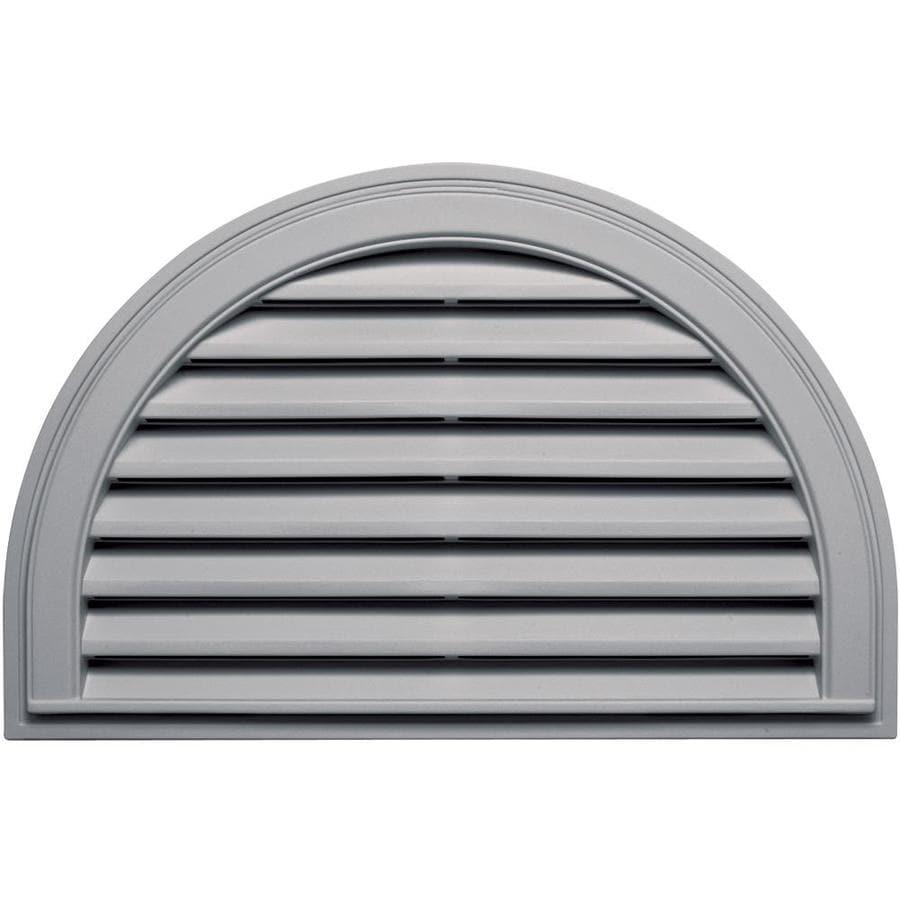 Builders Edge 10-in x 10-in Gray Half Round Vinyl Gable Vent