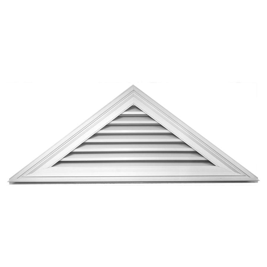 Builders Edge 61.8-in x 23.1-in White Triangle Vinyl Gable Vent