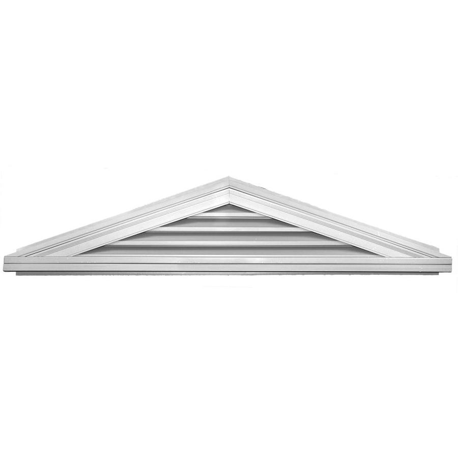 Builders Edge 7-in x 8-in White Triangle Vinyl Gable Vent