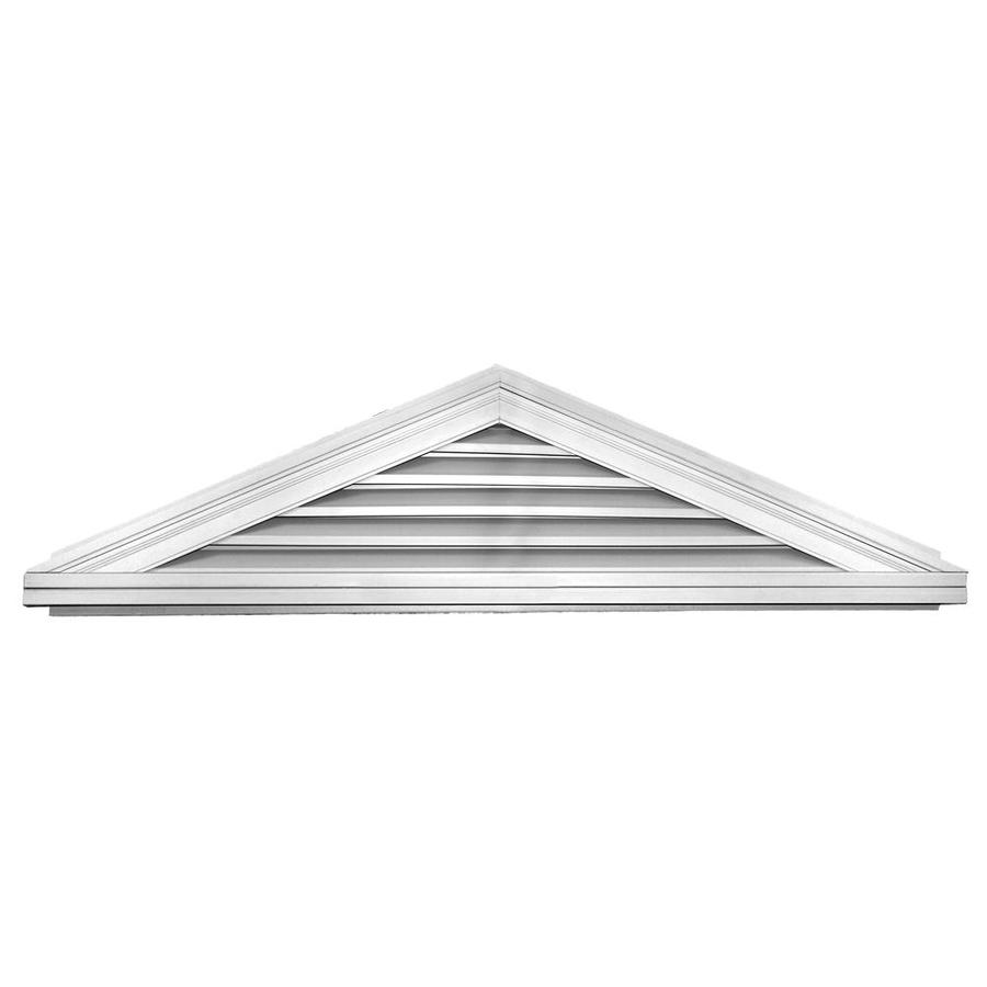 Builders Edge 10-in x 8-in White Triangle Vinyl Gable Vent