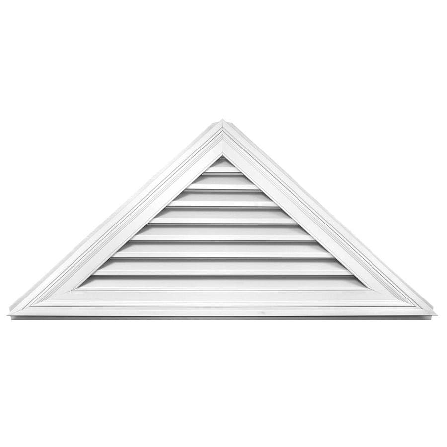 Builders Edge 56.3-in x 25.8-in White Triangle Vinyl Gable Vent