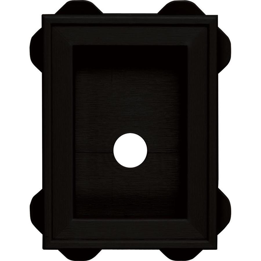 Builders Edge 5-in x 6.75-in Black Vinyl Universal Mounting Block