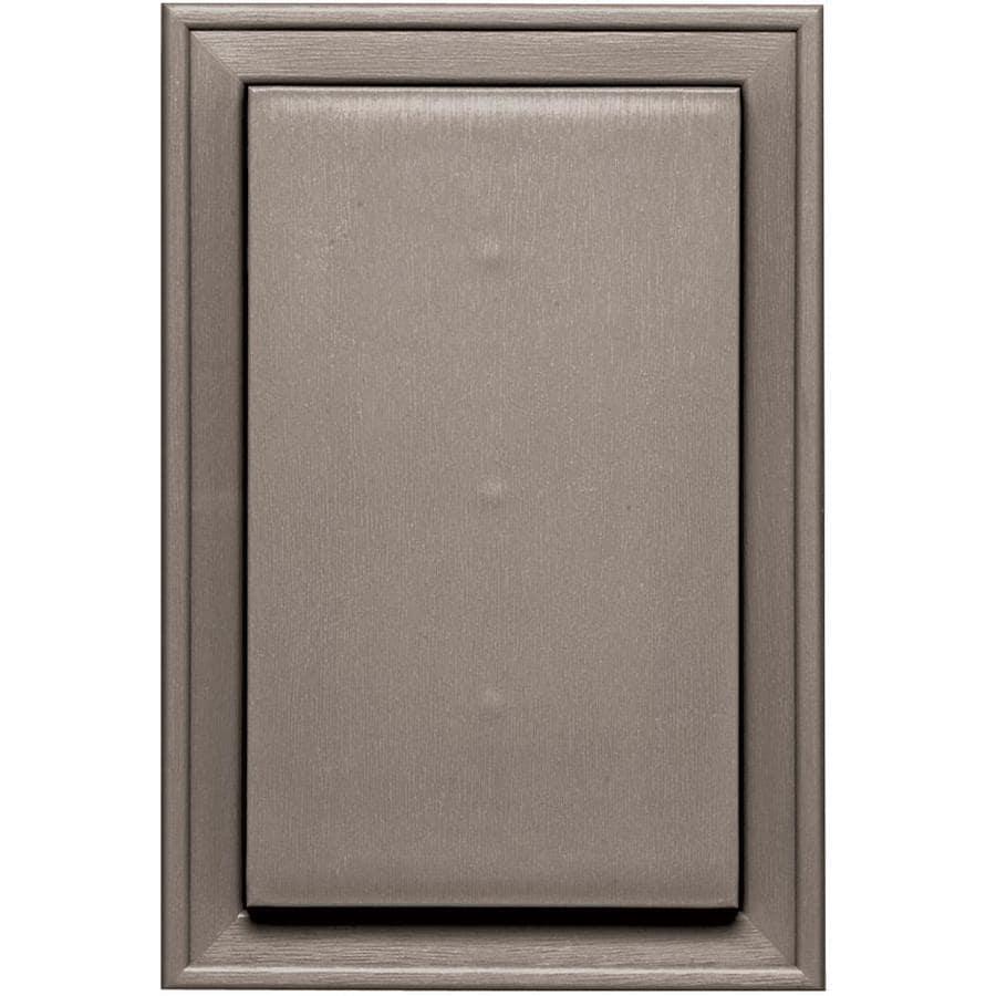 Builders Edge 8-in x 12-in Clay Vinyl Universal Mounting Block