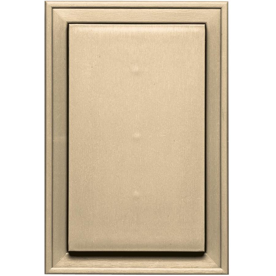 Builders Edge 8-in x 12-in Dark Almond Vinyl Universal Mounting Block