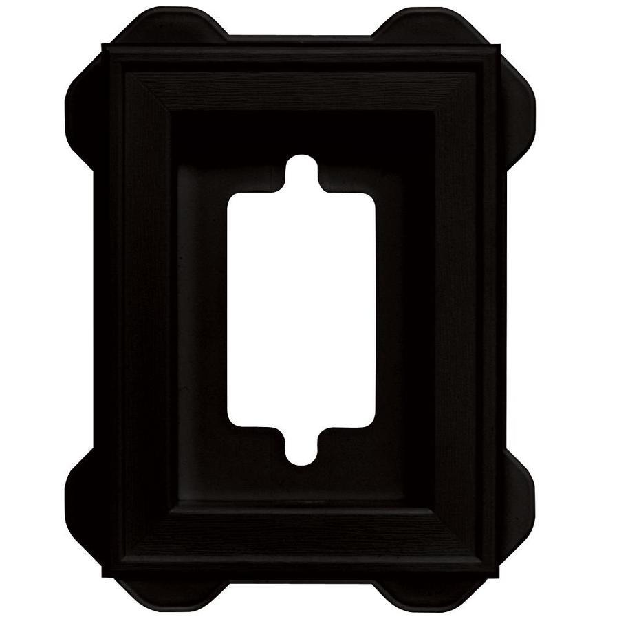 Builders Edge 5-in x 6.25-in Black Vinyl Universal Mounting Block