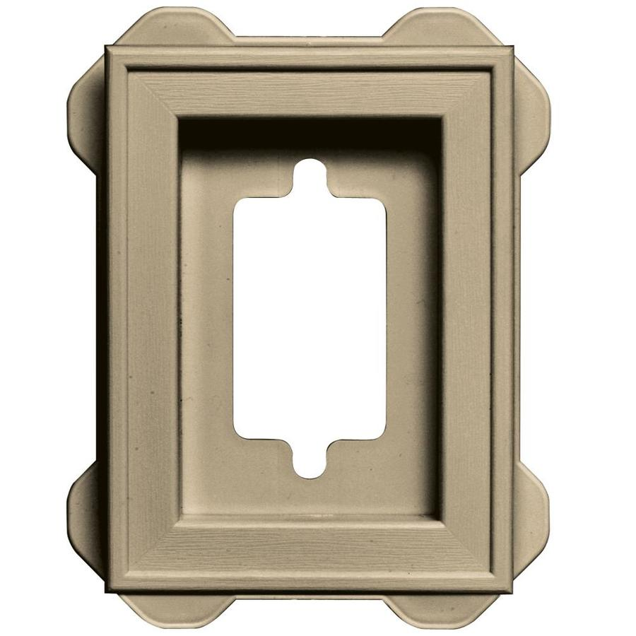 Builders Edge 5-in x 6.25-in Light Almond Vinyl Universal Mounting Block