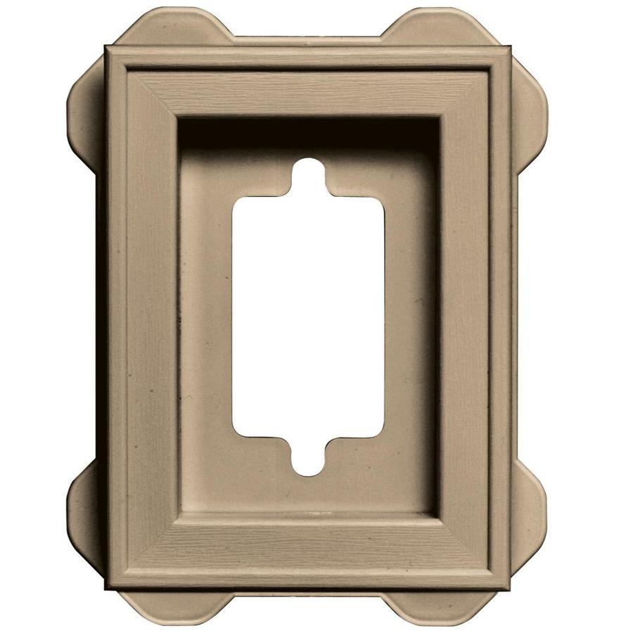 Builders Edge 5-in x 6.25-in Tan Vinyl Universal Mounting Block