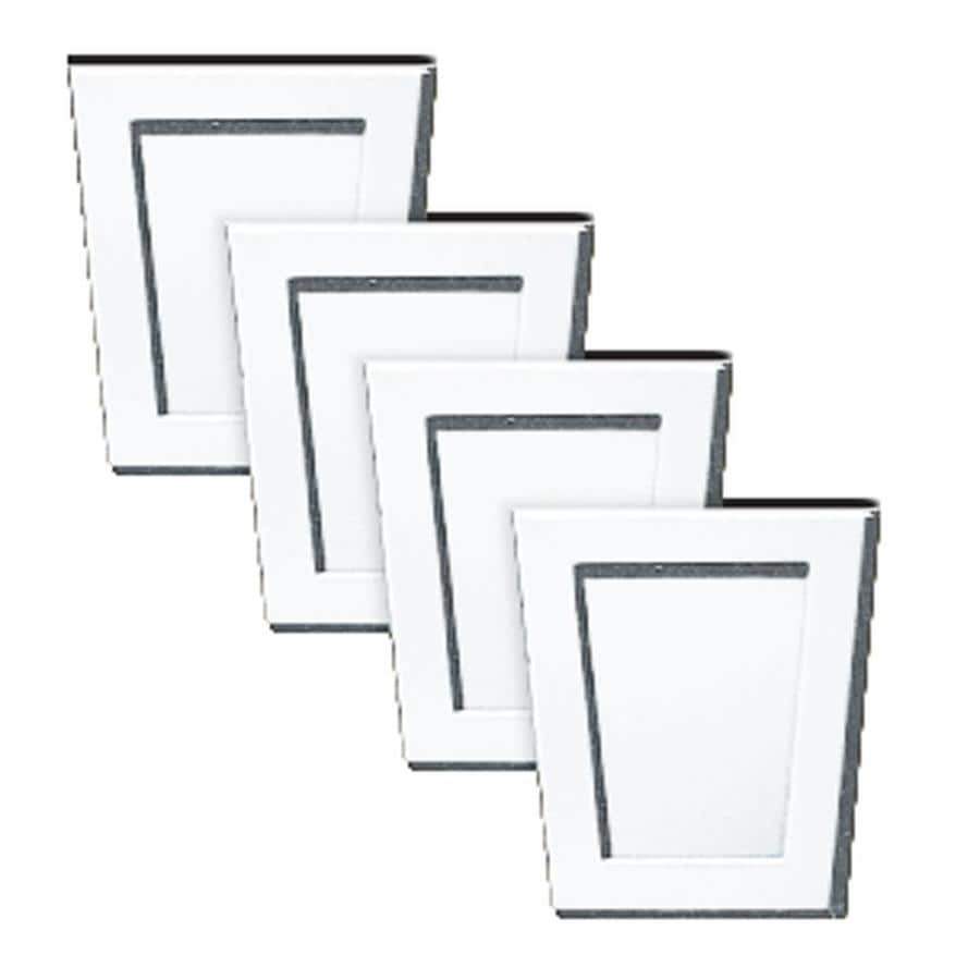 Builders Edge 4-Pack 4-in x 4.5-in Bright White Polypropylene Gable Vent Keystones