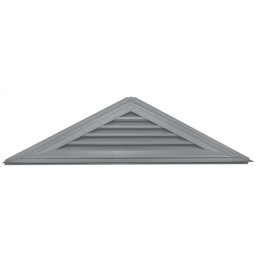 Builders Edge 72.5-in x 18.1-in Paintable Triangle Vinyl Gable Vent