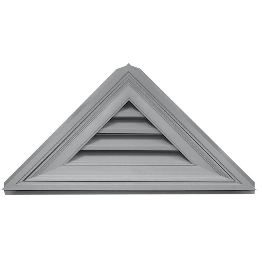 Builders Edge 5-in x 4-in Paintable Triangle Vinyl Gable Vent